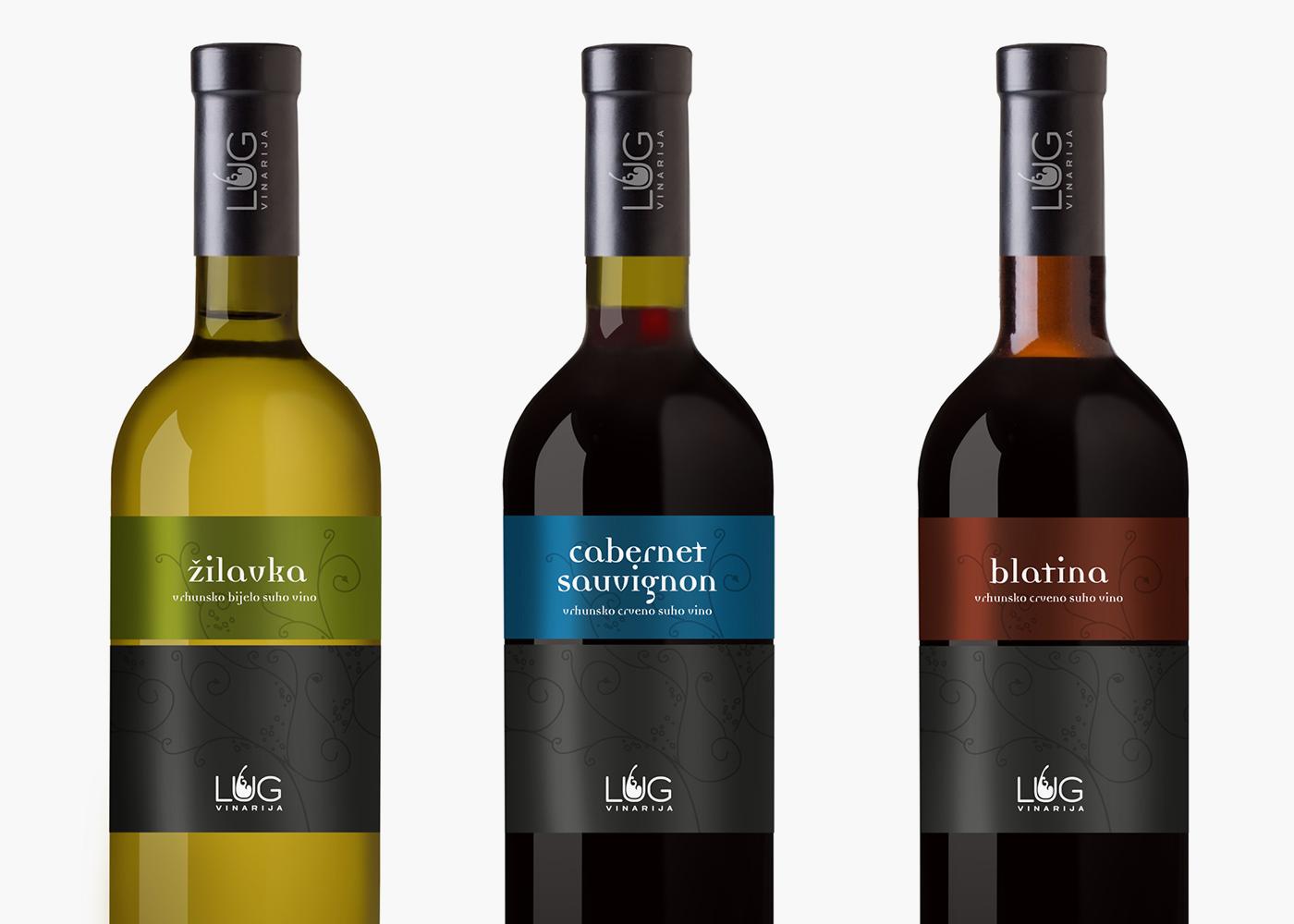 Visual identity of Lug winery