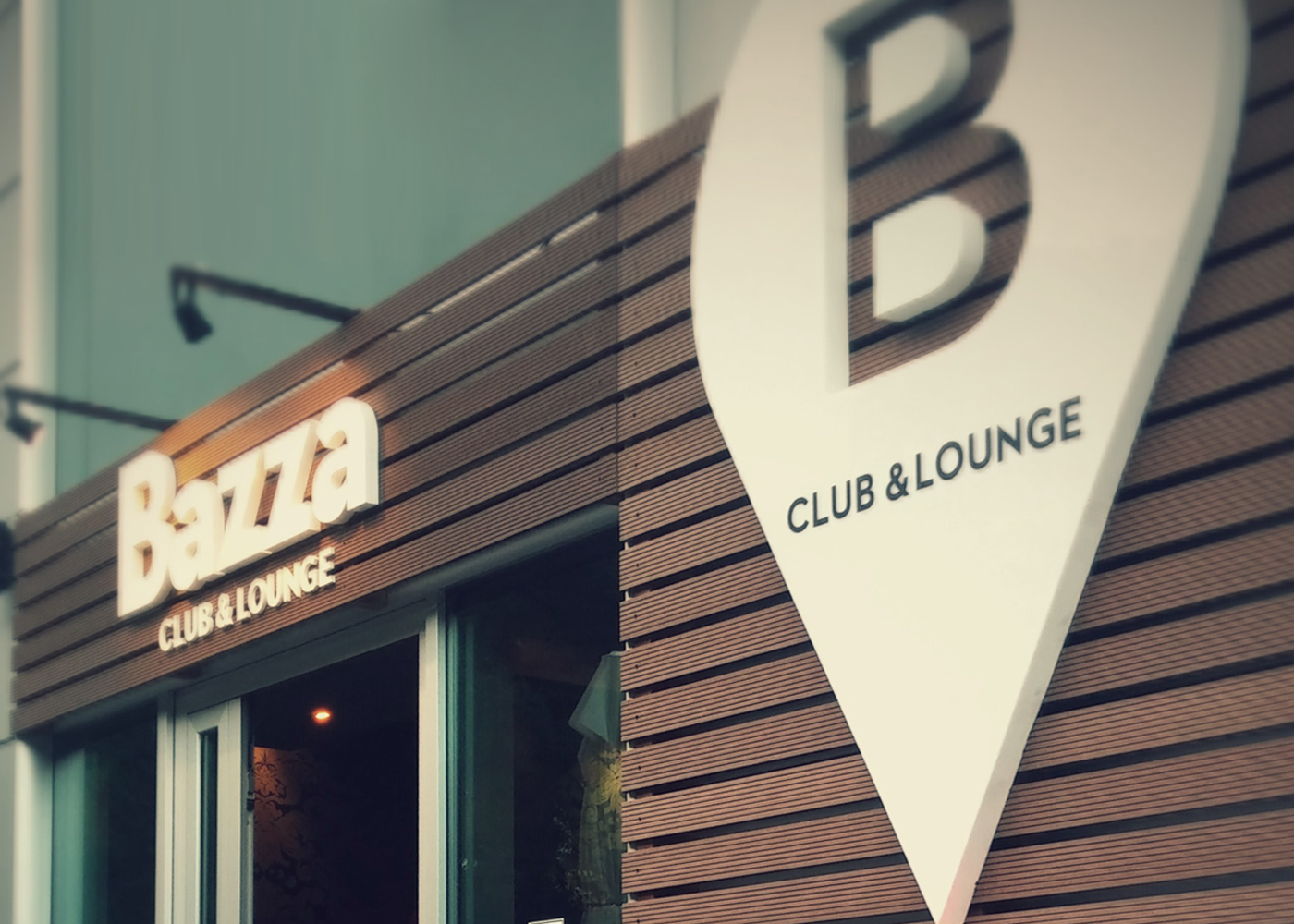 The visual identity of Bazza club & lounge
