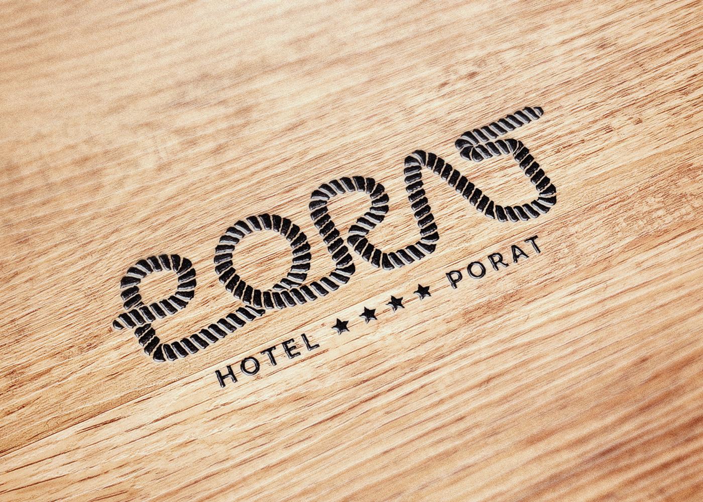 Visual identity of Hotel Porat