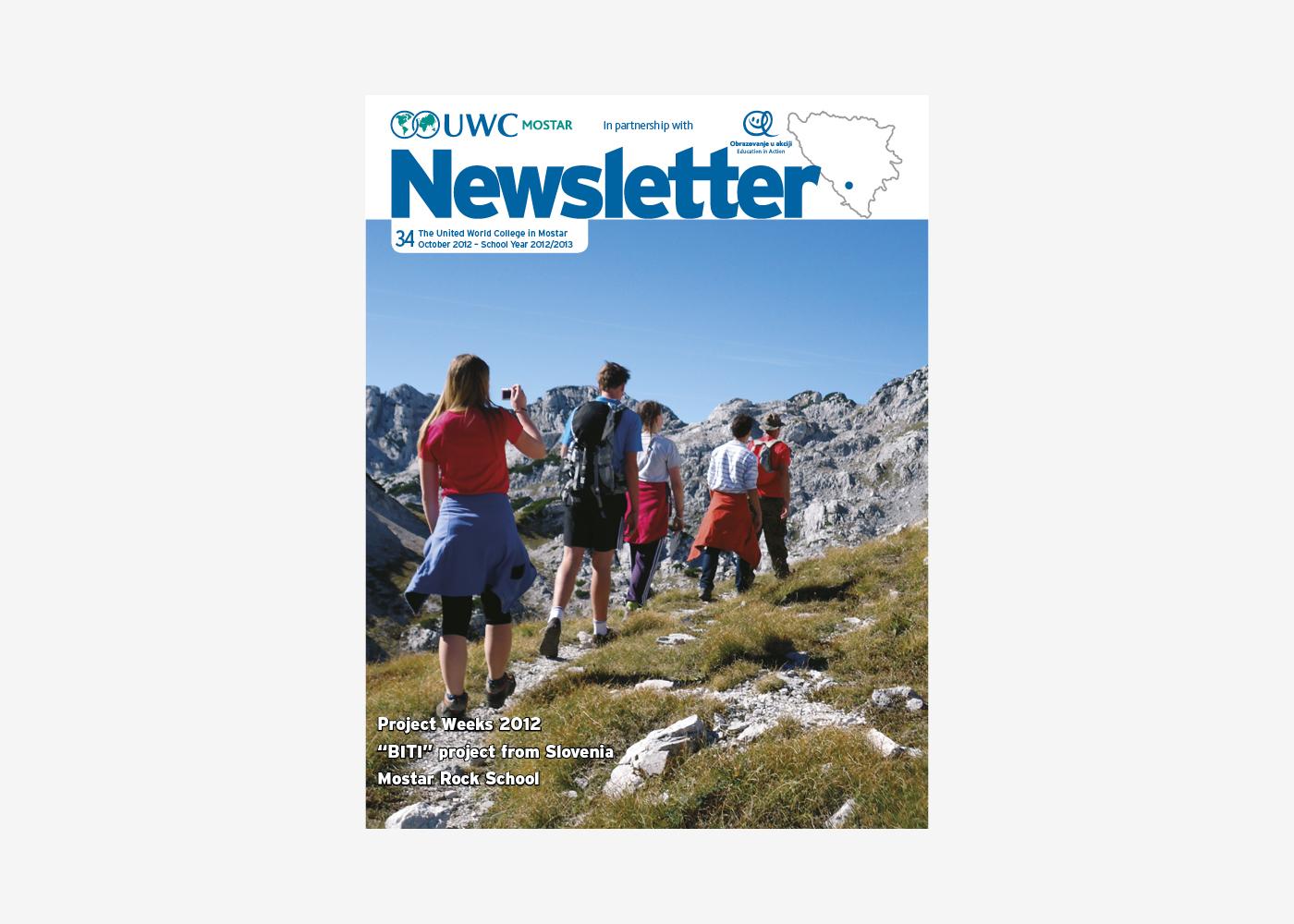 Newsletter dizajn - UWC
