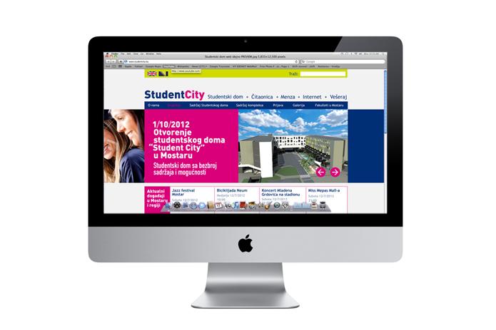 dizajn web stranice studentcity mostar grafički dizajn