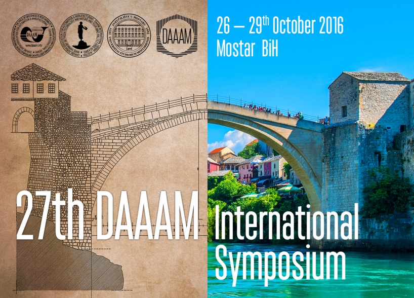 The visual identity of DAAAM Conference held in Mostar