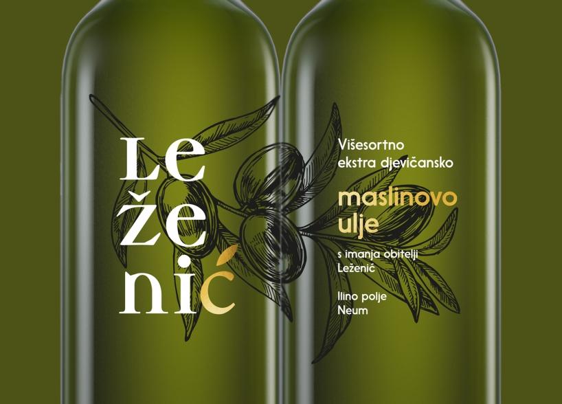 Brand identitet i dizajn pakiranja maslinovog ulja Leženić