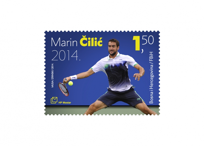 Postage stamp design: US Open champion Marin Čilić