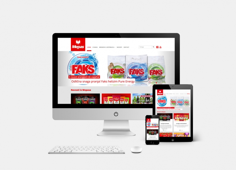 Mepas website design