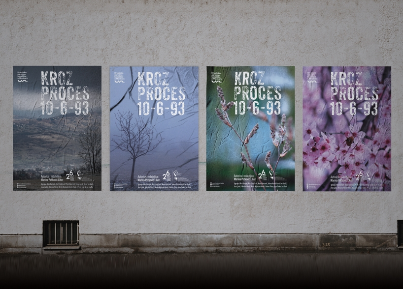 Dizajn plakata za predstavu «Kroz proces 10-6-93» Hrvatskog narodnog kazališta u Mostaru