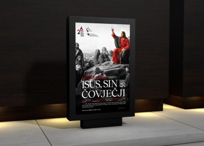 Dizajn plakata za predstavu «Isus, Sin Čovječji» Hrvatskog narodnog kazališta u Mostaru