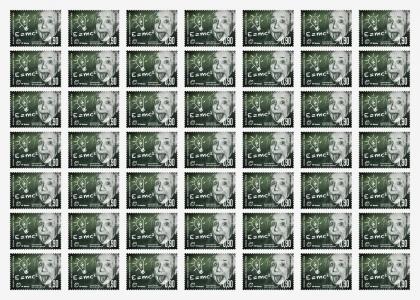 dizajn poštanske marke albert einstein shift agencija