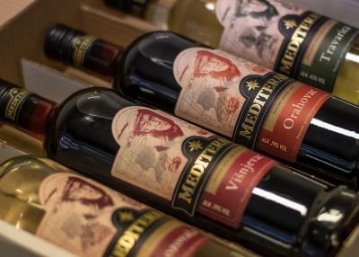 Label design for Mediterano schnapps