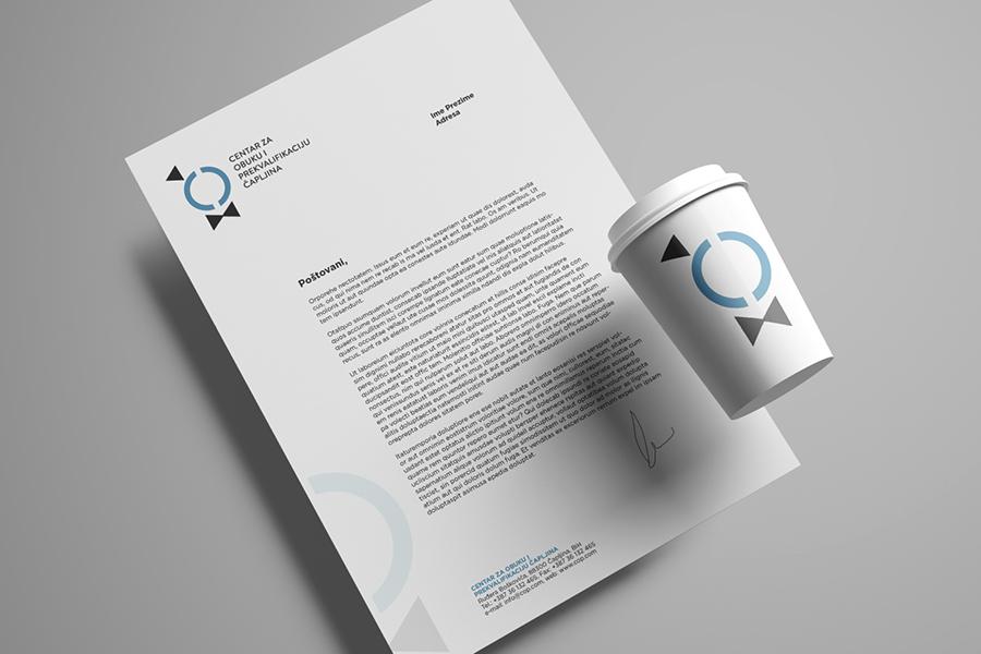Vizualni identitet Centra za obuku i prekvalifikaciju Čapljina memorandum