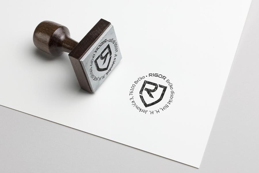 Vizualni identitet tvrtke Rigor pečat