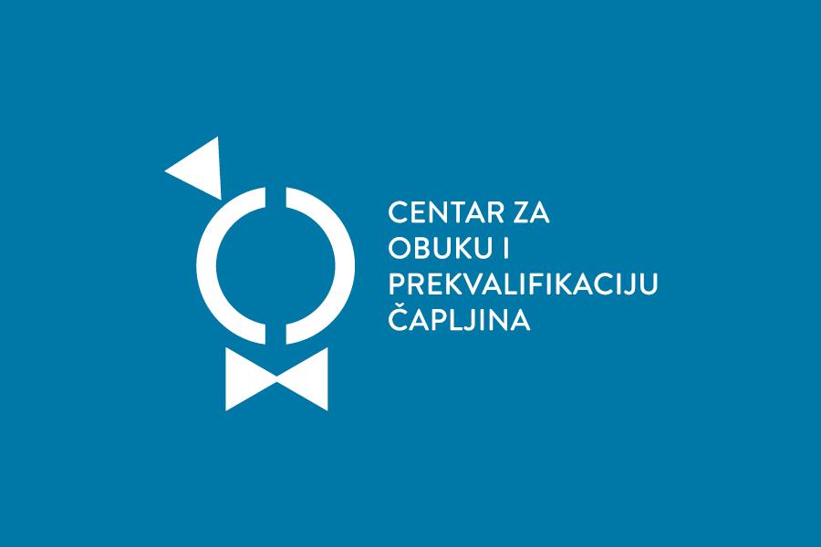 Vizualni identitet Centra za obuku i prekvalifikaciju Čapljina logotip pozitiv negativ
