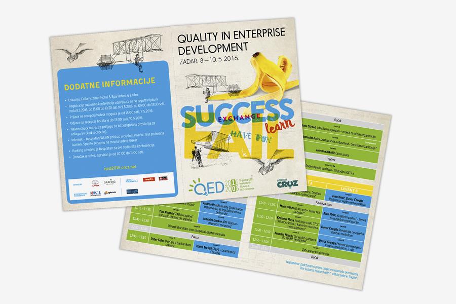 Quality in Enterprise Development konferencija CROZ vizualni identitet konferencije shift dizajn