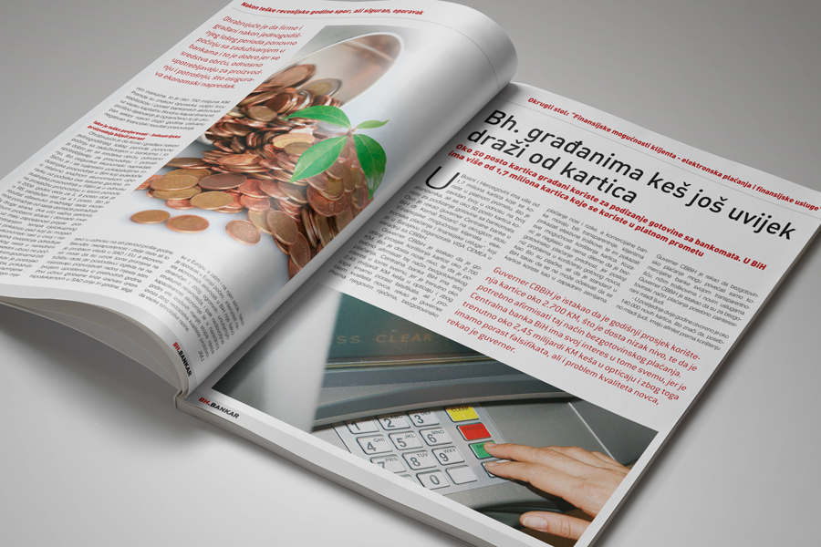 Dizajn časopisa BH Bankar, shift.ba mostar