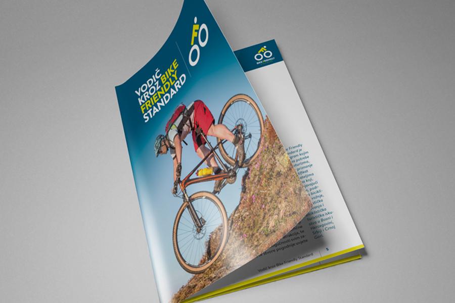 Visual identity design for the Bike Friendly Standard