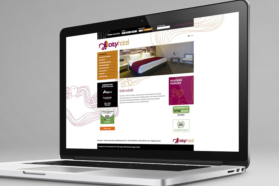 vizualni identitet city hotel web dizajn