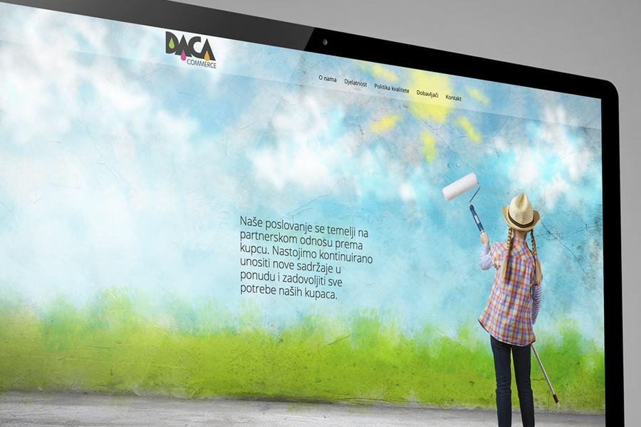 vizualni identitet daca commerce - dizajn web stranice