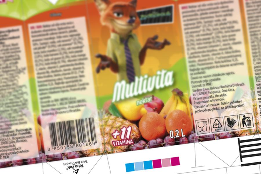 Dizajn ambalaže Disney sokovi Zootropolis grafički dizajn Shift