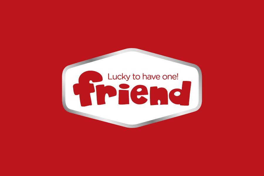 brand identitet FRIEND negativ