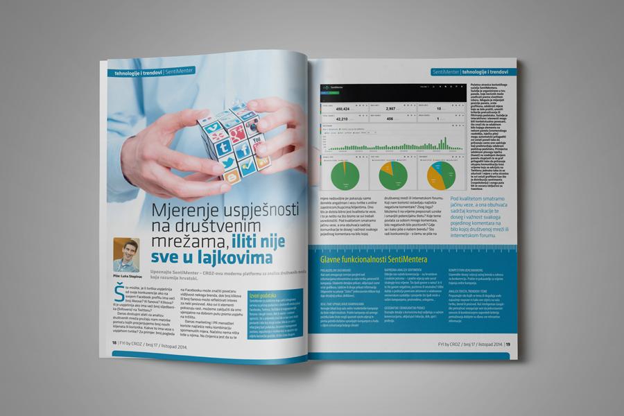 Dizajn informativnog časopisa FYI, prijelom sbd