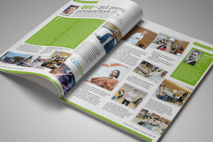 Dizajn informativnog časopisa FYI, novi broj časopisa, CROZ