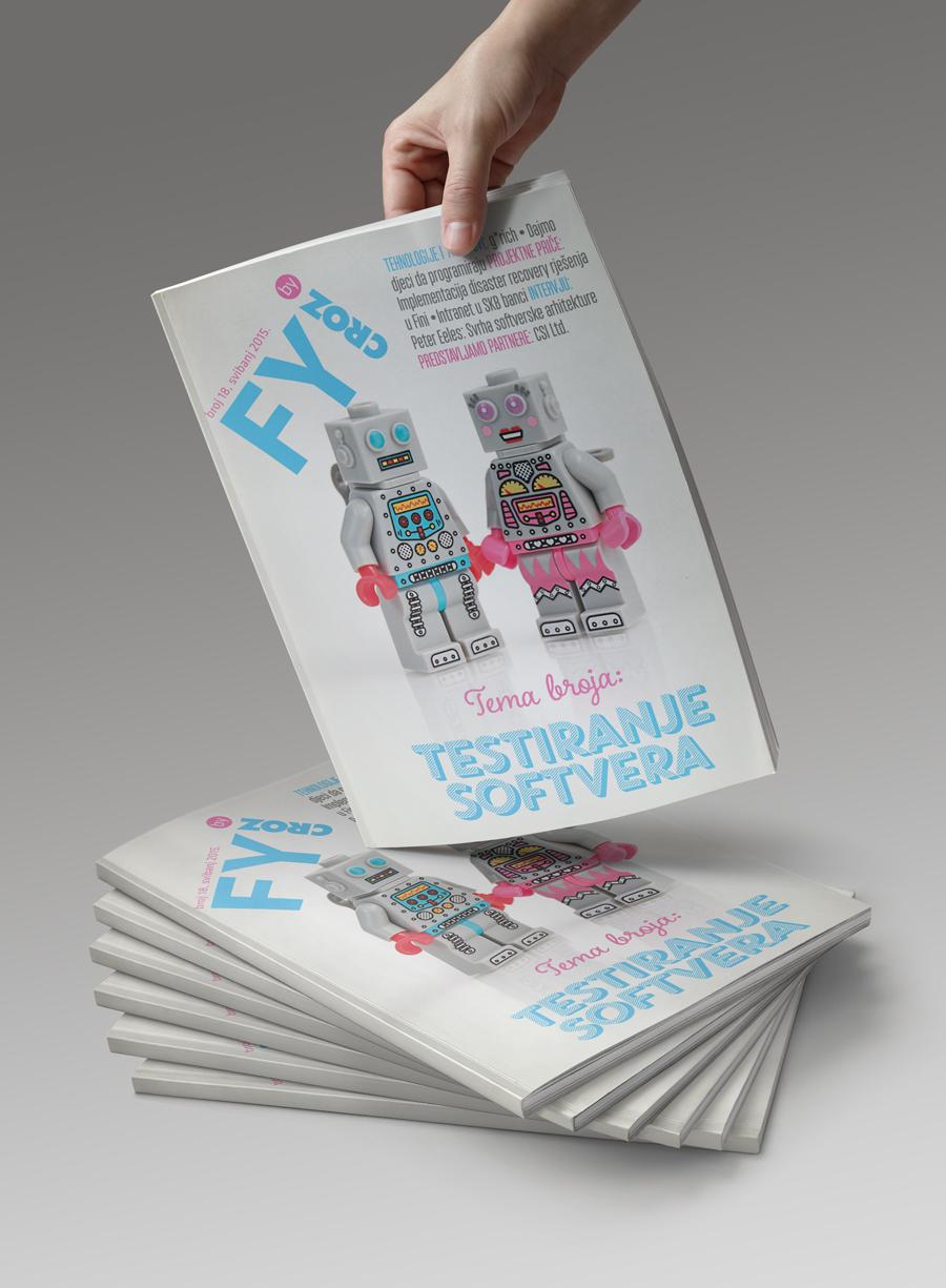 Dizajn informativnog časopisa FYI, korica časopisa, shift