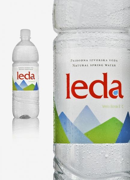 dizajn etikete boce voda leda