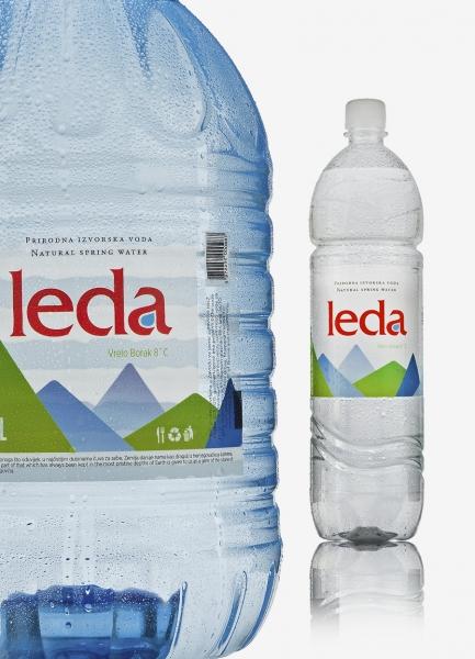 izvorska voda leda dizajn etiketa za boce