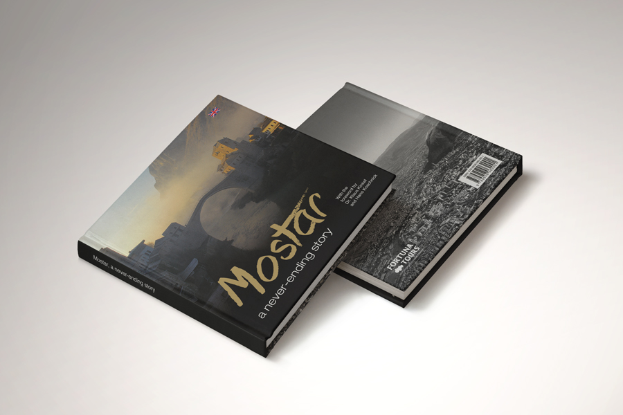 Dizajn turističke monografije Mostar- beskrajna priča korica shift agencija