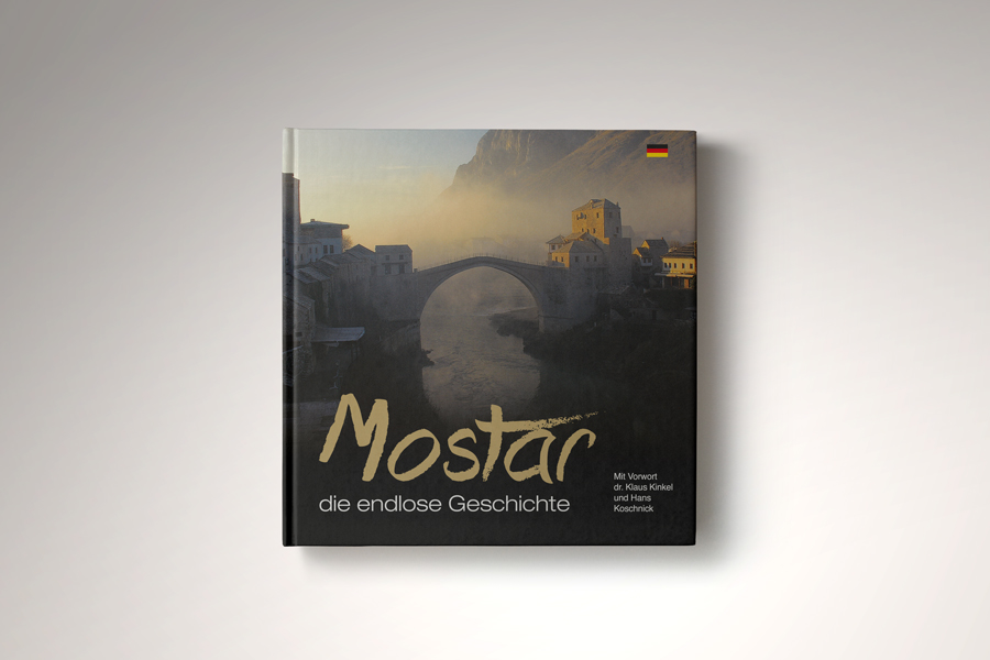 dizajn monografije Mostar - beskrajna priča , korica monografije, shift