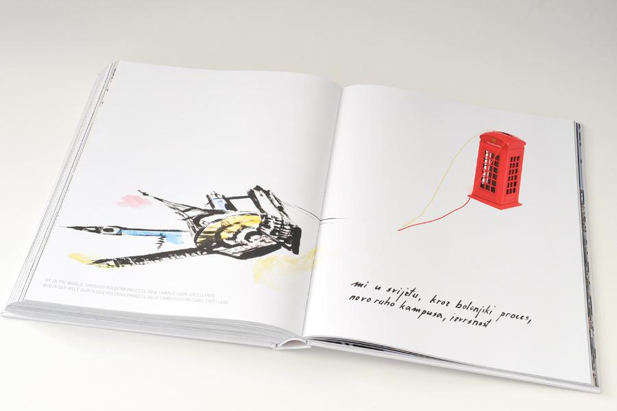 Dizajn monografije Sveučilišta u Mostaru, prijelom sbd