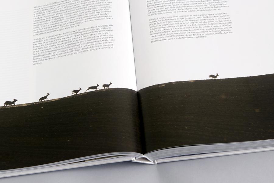 Dizajn monografije Sveučilišta u Mostaru, agencija shift