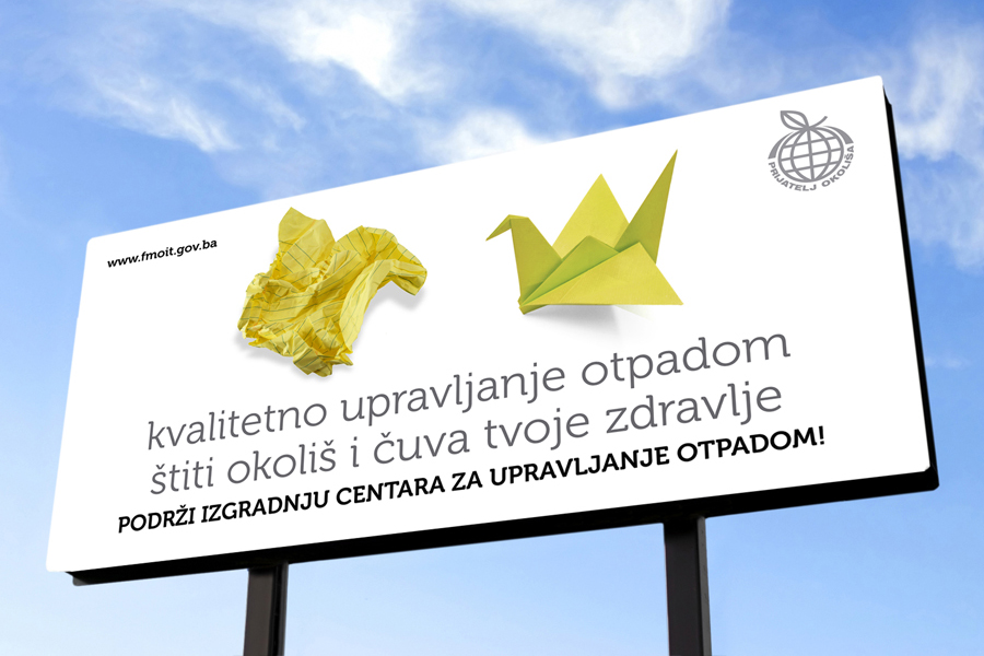 plakati i oglasi NIMBY kampanja, billboard shift.ba