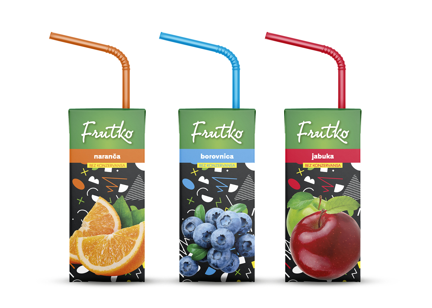 Brand identity and packaging design of juices