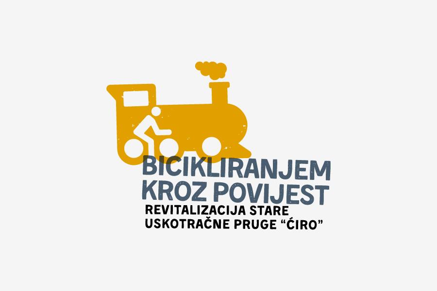 pozitiv logotipa projekta bicikliranjem kroz povijest shift agencija