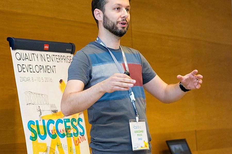 Quality in Enterprise Development konferencija grafički dizajn shift