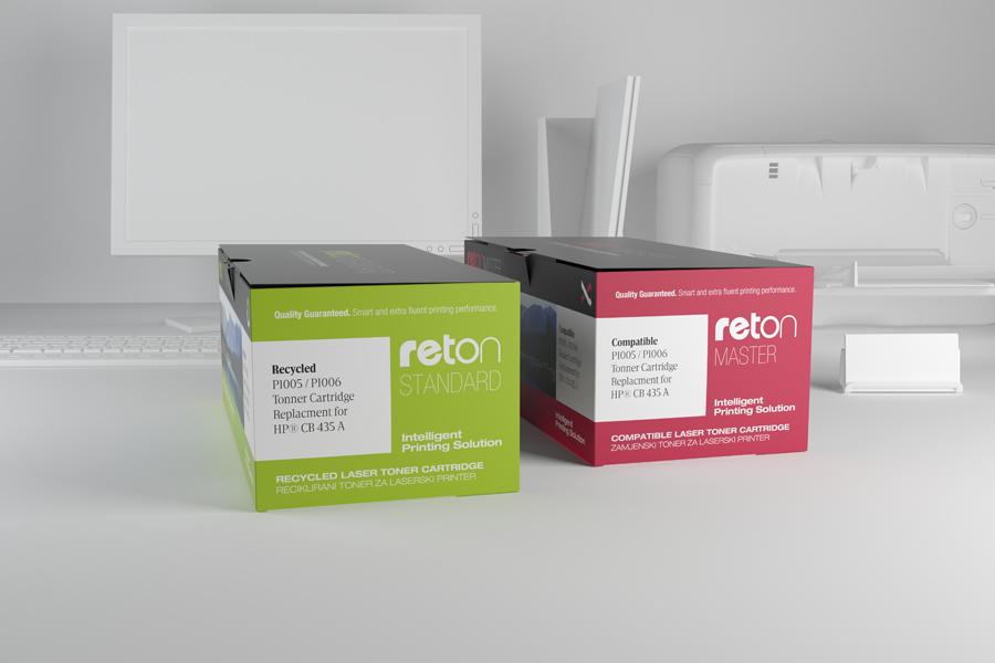 vizualni identitet reton mostar, dizajn ambalaže, kartonske kutije