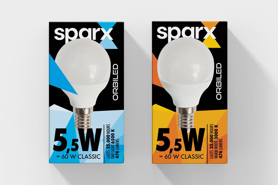 Verbalni i vizualni identitet brenda Sparx dizajn ambalaže led rasvjeta