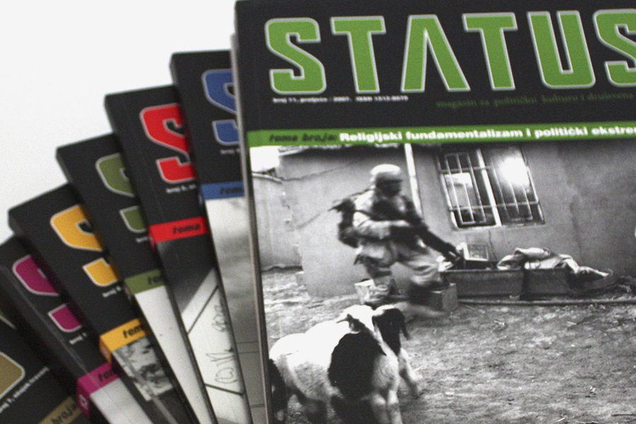 Grafička oprema magazina Status, korica magazina, dizajn shift
