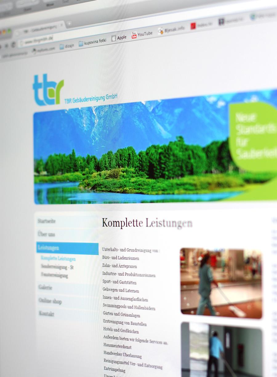 Vizualni identitet TBR GmbH, München, dizajn web stranice, shift agencija