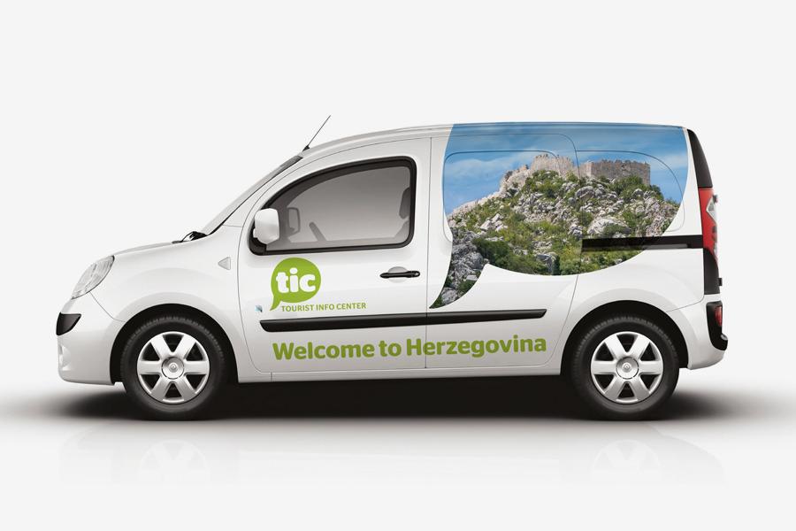 Dizajn logotipa i promotivni materijali oslikavanje vozila