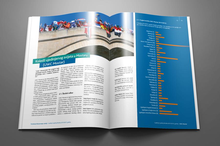 Dizajn Godišnjeg izvješća UWC, koledž ujedinjenog svijeta, shift