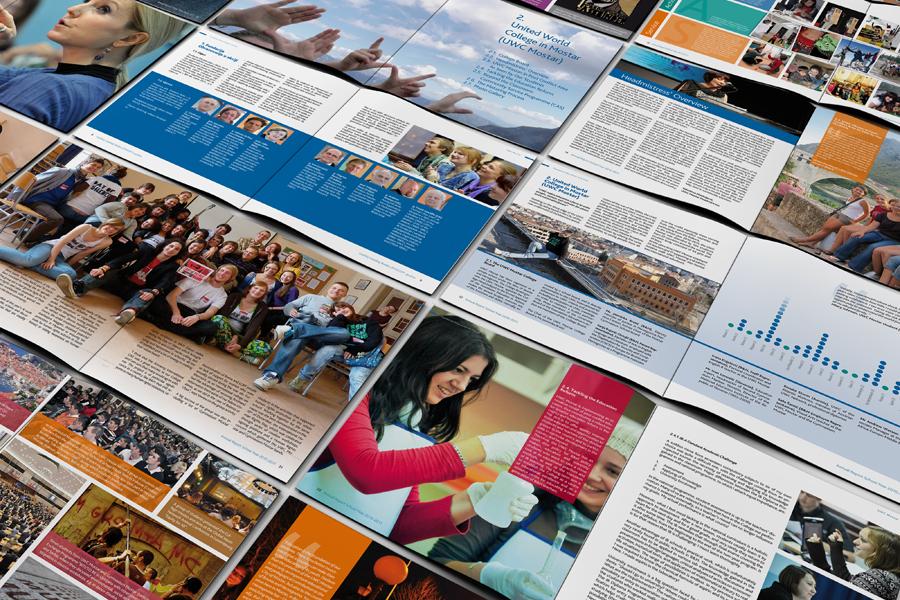 Dizajn Godišnjeg izvješća UWC, layout,