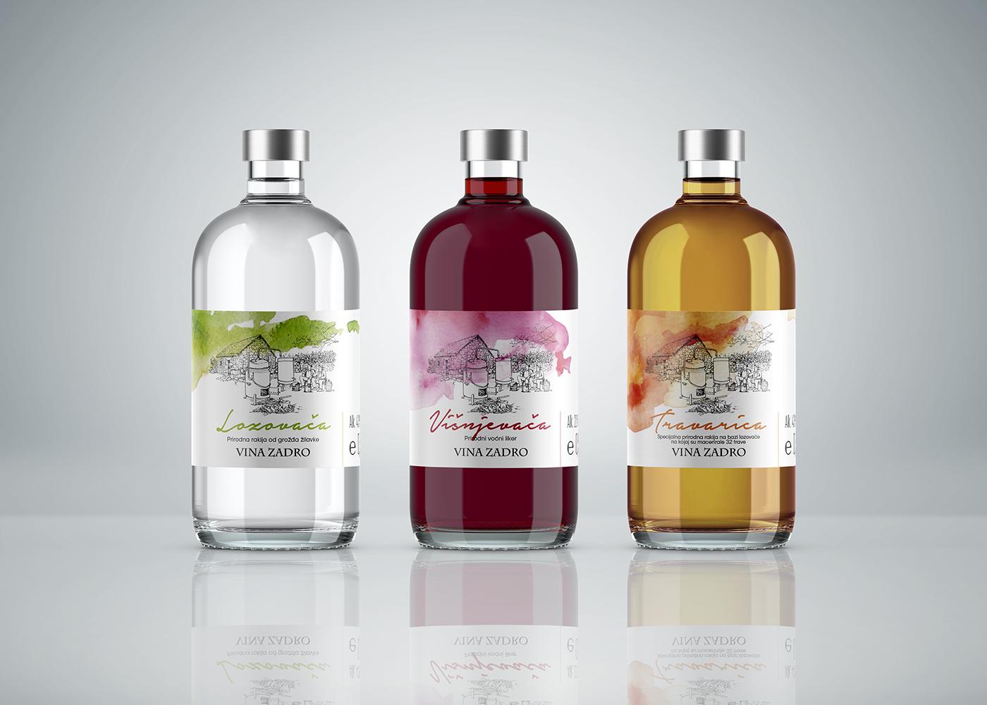 Visual Identity of the Product Collection – Domestic Brandy (Rakia) Zadro
