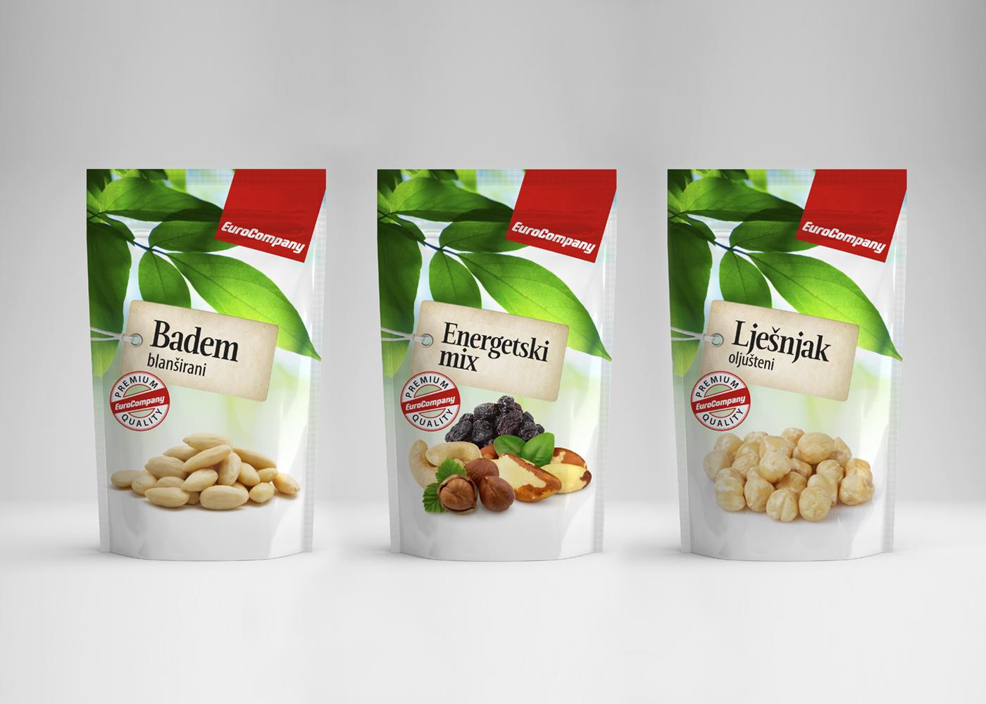 Dizajn linija proizvoda sušenog voća i orašastih plodova