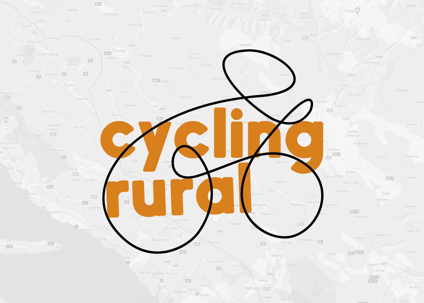 """Vizualni identitet """"Cycling rural"""" projekta"""