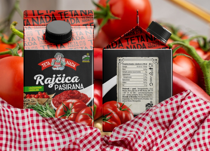 """Brand Identity and Packaging Design for a Product Line """"Teta Nada"""""""