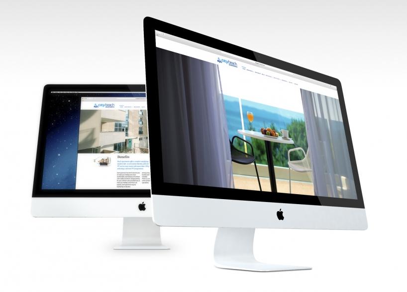 City Beach Apartments vizualni identitet i web dizajn