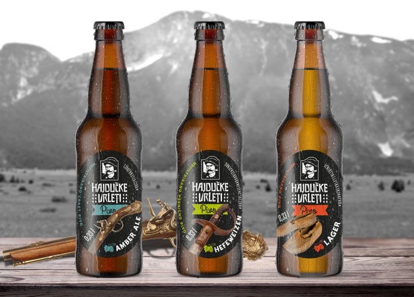 Domaće pivo u Hajdučkim vrletima — dizajn serije etiketa