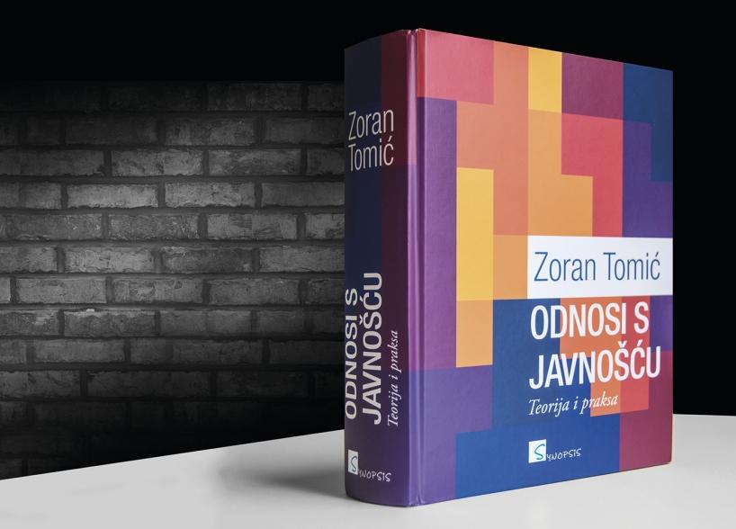 """Dizajn knjige """"Odnosi s javnošću - Teorija i praksa"""" shift brand design"""